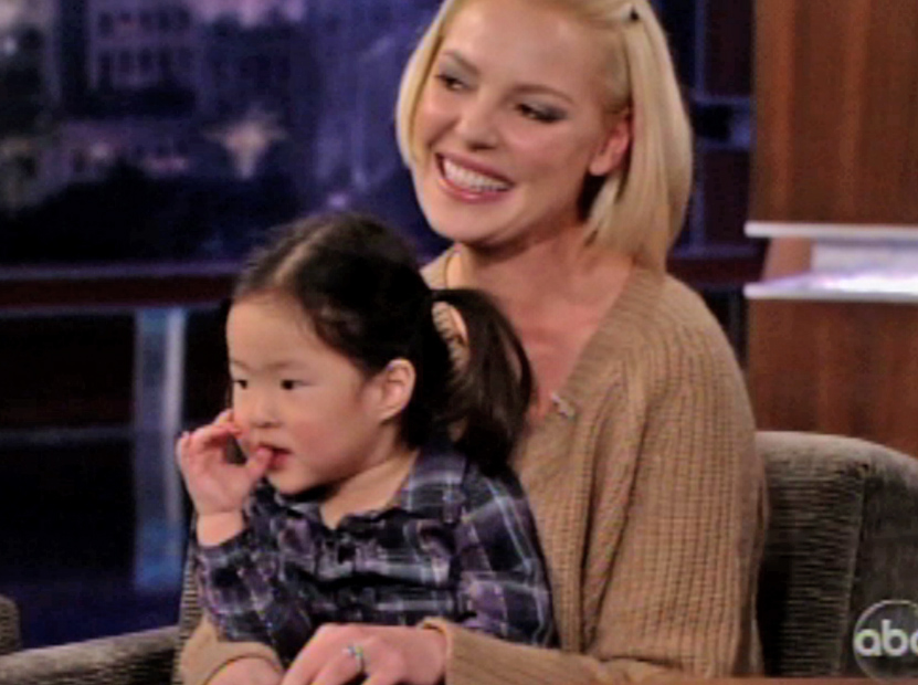 Katherine Heigl Brings 3-Year-Old Daughter Onto Kimmel ...