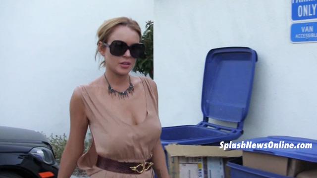 Very Lindsay lohans bouncing boob vids pity, that