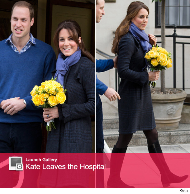 Kate Middleton Leaves The Hospital -- Do You See A Bump