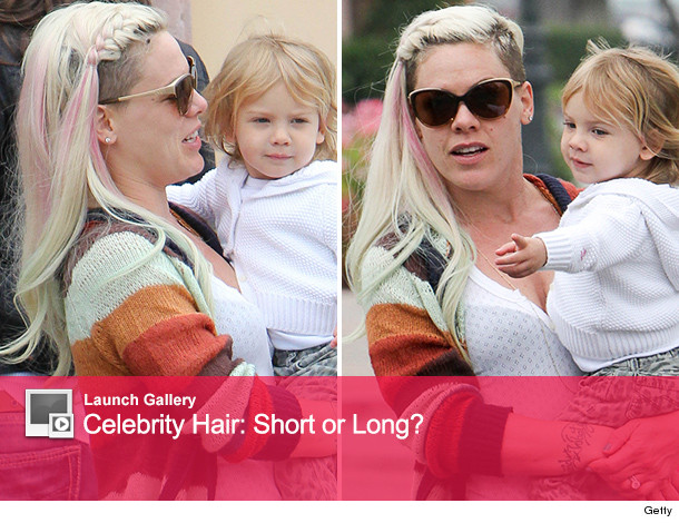 See The Singer S Latest Hair: P!nk's Shocking New Look -- See Her With Long Hair