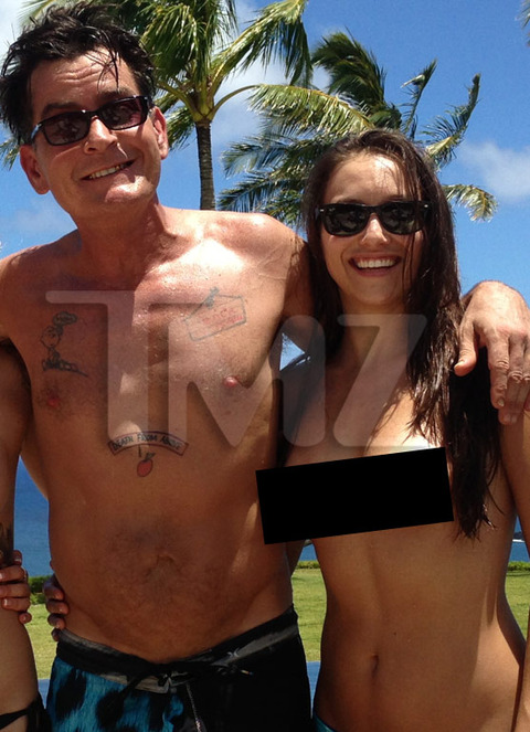 Rather valuable Charlie sheen topless girl