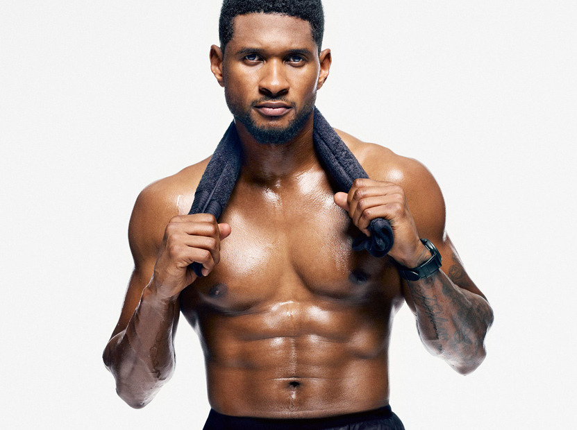 Usher Gets Sweaty Amp Shirtless For Men S Health Toofab Com