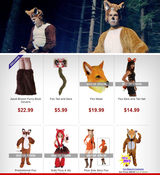What Does the Fox Say FOX COSTUMES EXPLODE Thanks to