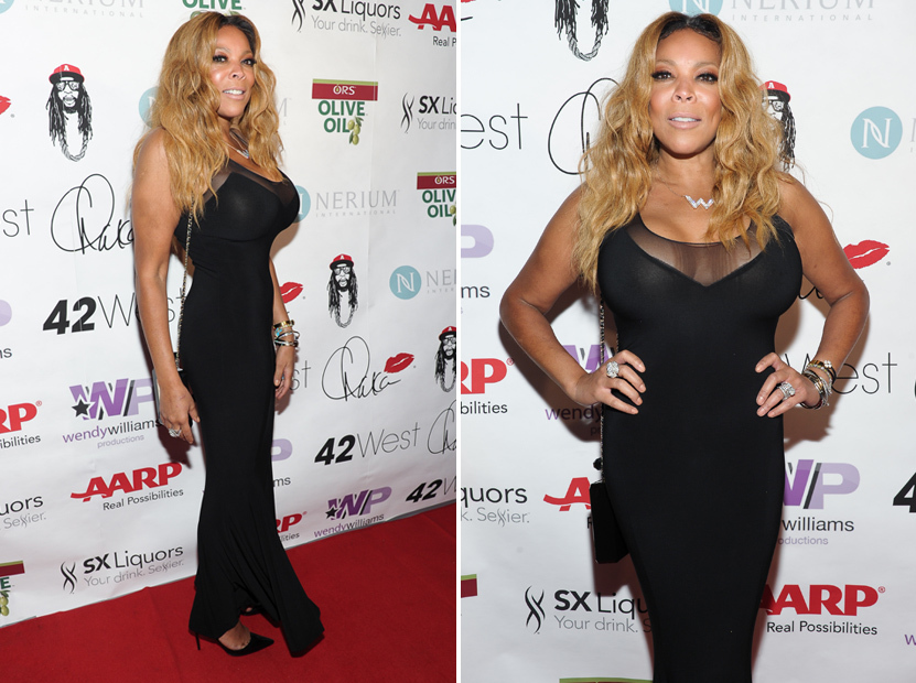 Wendy Williams Shows Off Crazy Cleavage & Tiny Waist at 50th