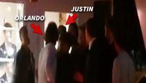 Orlando Bloom Throws Punch at Justin Bieber