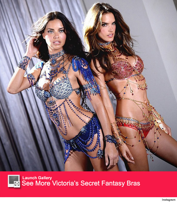 343c7cdf039 1103 fantasy launch. Now that s some fancy lingerie! Victoria s Secret  models Adriana Lima ...