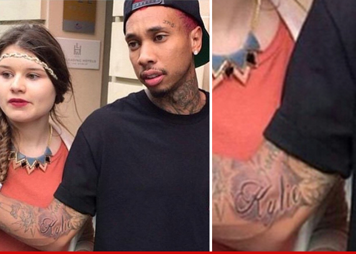 Rapper With Z Tattoed On His Face: Tyga -- Kylie Jenner Is The One ... Here's The Ink To