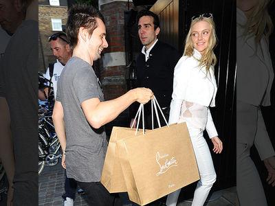 Matthew Bellamy -- All Smiles for New Chick ... Despite Shopping Spree Torture