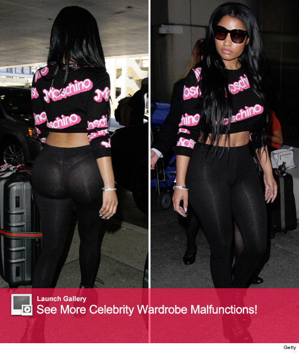 25bc044a76c01 Nicki Minaj Accidentally Flaunts Bare Booty In See-Through Leggings ...