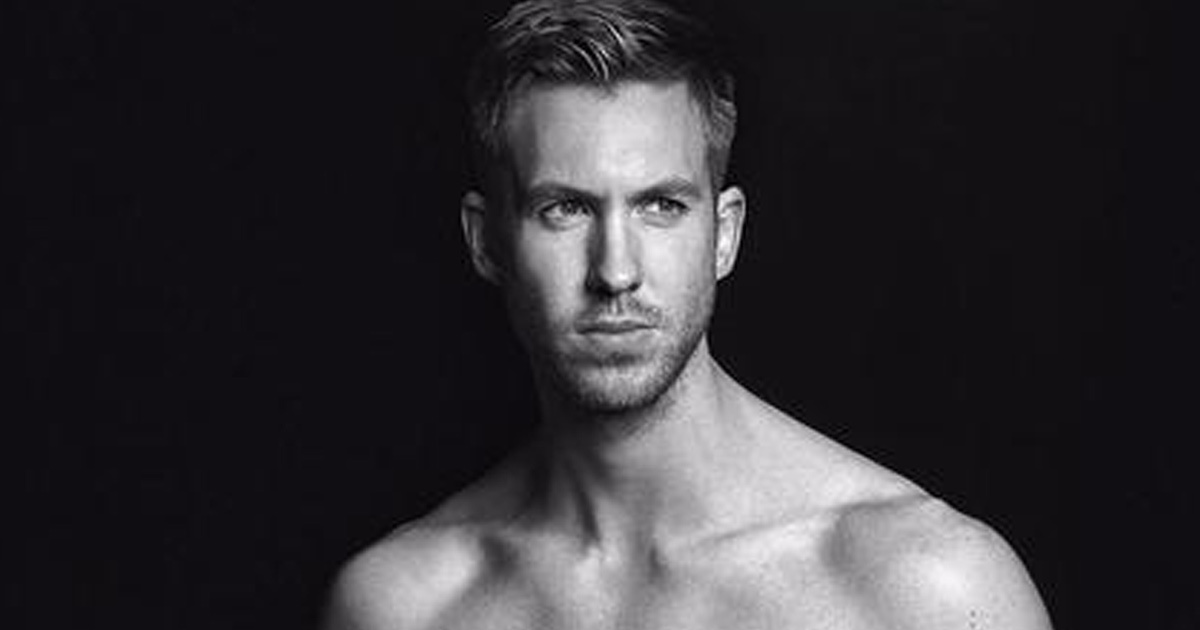 Calvin Harris Flexes His Eight-Pack Abs While Modeling