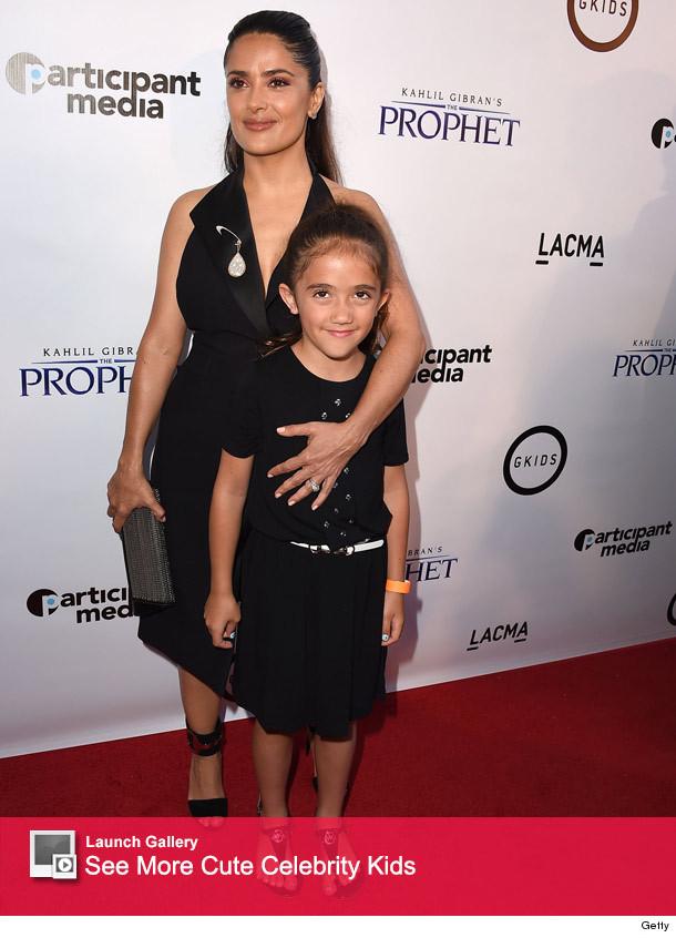 Salma Hayek Hits Red Carpet with Daughter Valentina