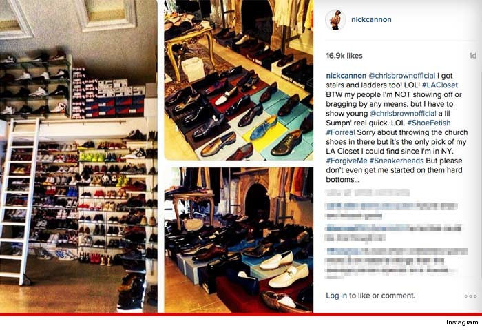 Nick Cannon To Chris Brown Thats Not A Shoe Collection THIS Is PHOTOS
