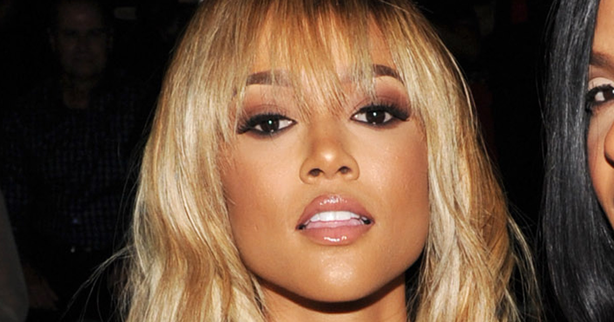 Karrueche Tran Copies Rihanna S Blonde Hair During New