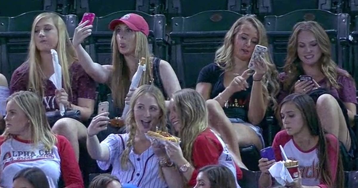 Female naked at baseball hame for the