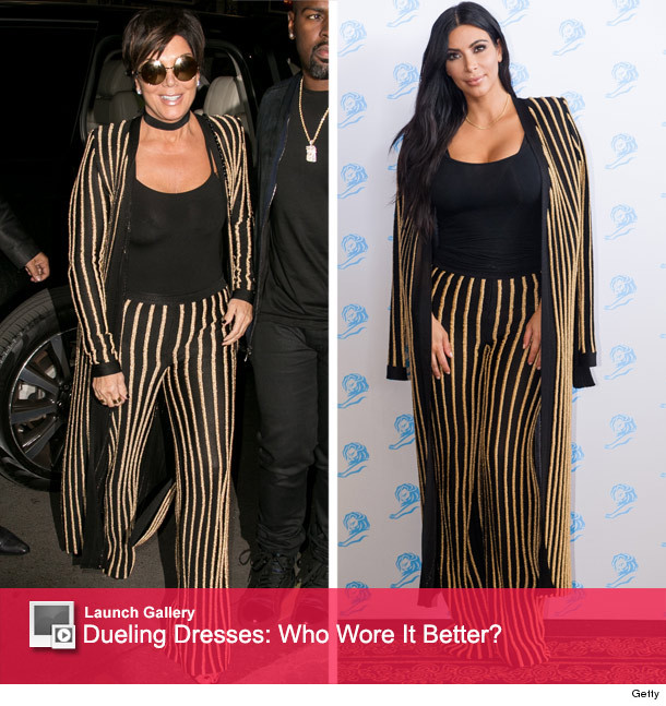 Kris Jenner Raids Kim Kardashians Closet Who Wore It Better