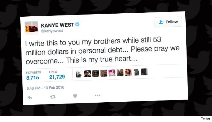 Kanye West In Debt