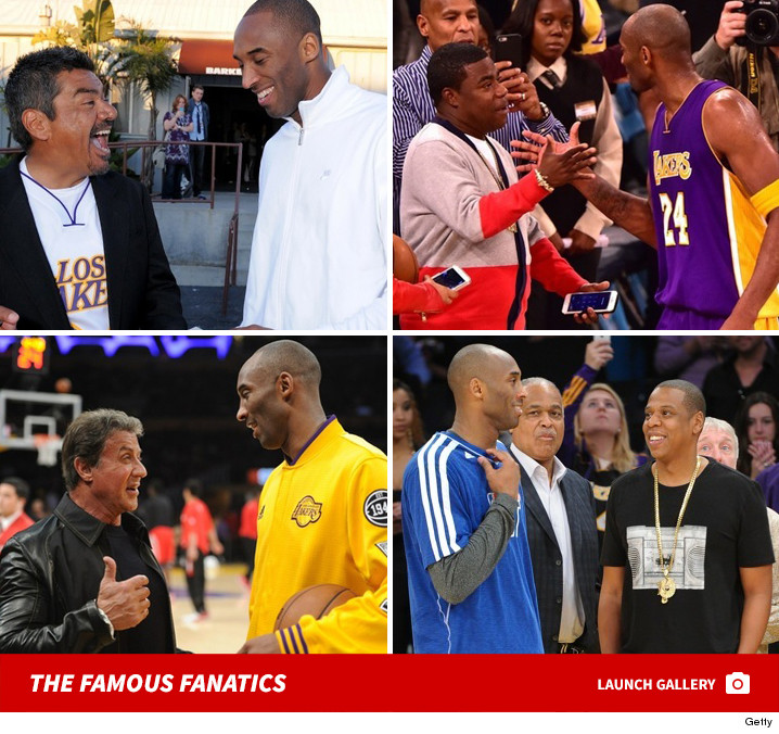 Black Mamba's Famous Friends -- See Kobe's Celebrity Crew