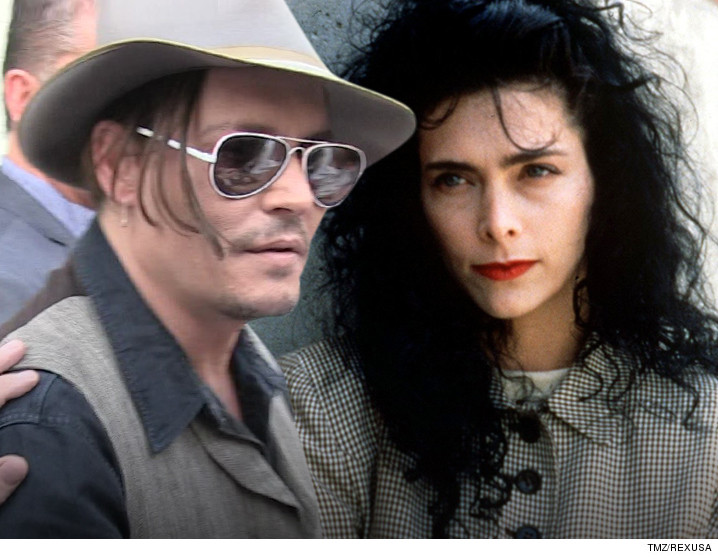 Lori Anne Allison and her ex-husband Johnny Depp