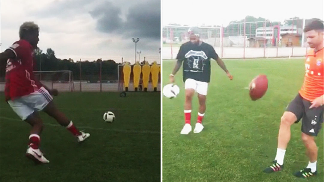 Odell Beckham Jr Bends It Like David Beckham At Bayern Munich Practice Video Thumbnail