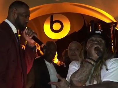 Lil Wayne Beats Birdman's Cash Money Party With LeBron's Help (VIDEO)