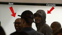 Carmelo Anthony Chillin With Sam Cassell ... L.A. Bound? (VIDEO)