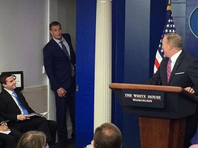 Rob Gronkowski Crashes Sean Spicer White House Press Briefing (VIDEO + PHOTO)