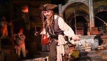 Johnny Depp Commandeers Pirates of The Caribbean Ride at Disneyland (VIDEO)