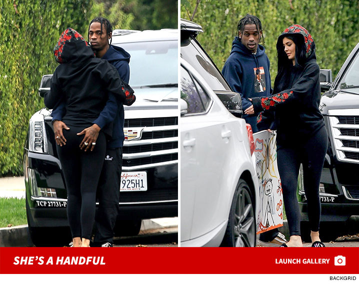 Romantically engaged boyfriend and girlfriend: Travis Scott and Kylie Jenner