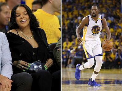 Rihanna Allegedly Heckles Kevin Durant During NBA Finals (VIDEOS)