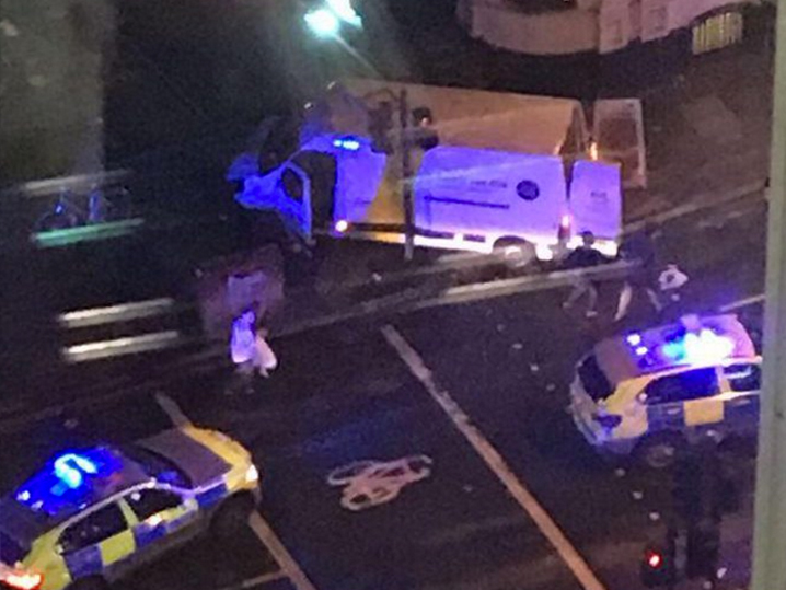 London Bridge Shut Down After Van Reportedly Hits Pedestrians