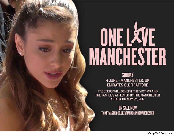 Ariana Grande returns to the stage for Manchester benefit show