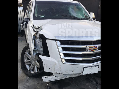 Derek Fisher DUI Crash Photos, The Violent Wreckage (PHOTO GALLERY)