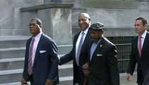 Bill Cosby Taunted by Woman Playing 'I Am Woman' As He Leaves Court (VIDEO)