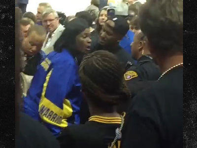Draymond Green's Mom In Heated Exchange with Cavs Fan, Cops Involved (VIDEO) (UPDATE)