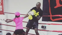 Chad Johnson Gets Beat Down By His Daughter In The Boxing Ring