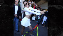Bella Hadid Shows Off Hot Tennis Outfit, Big Racket at French Open