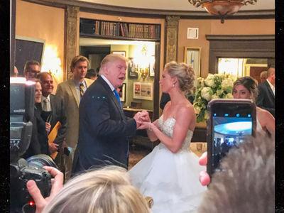 President Trump: Wedding Crasher (PHOTOS)