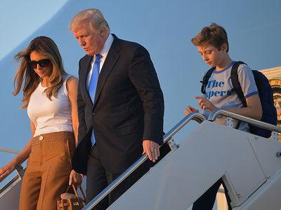 Melania and Barron Trump Officially Move into the White House (PHOTOS)