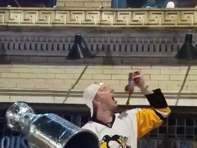 Penguins Fans Stanley Cup Celebration, Eat Dead Raw Catfish!