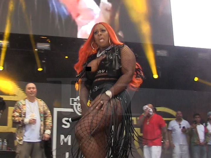 Remy Ma's Nip Slip During Concert