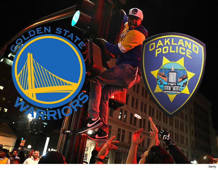 Jubilant Warriors fans flow into Oakland streets