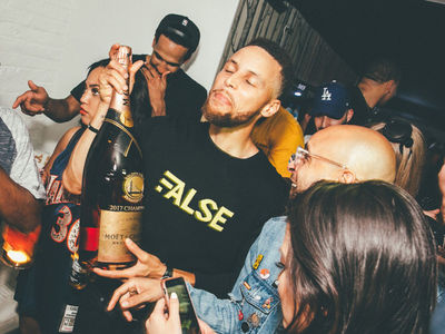 Golden State Warriors Rage After NBA Championship, Boozin', Dancin', Screamin'!