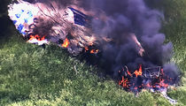 U.S. Open: Blimp Catches Fire and Crashes Near Golf Tourney, Pilot Injured (UPDATE)