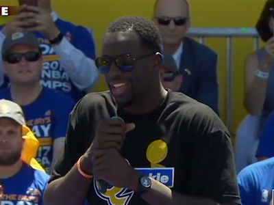 Draymond Green Shades LeBron James at Warriors Championship Rally