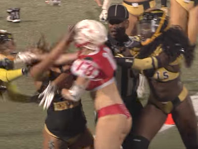 Lingerie Football Fight Ends in 1-Punch KO