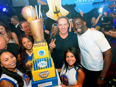 Golden State Warriors Players Celebrate NBA Championship at Vegas Nightclub