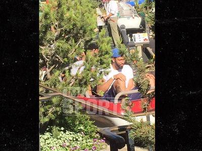 7-Foot Anthony Davis Crams Into Disneyland Roller Coaster