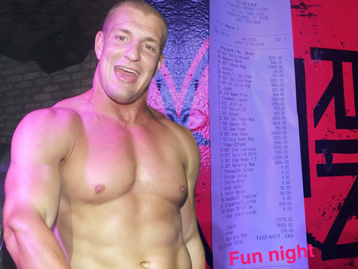 Gronk and crew rack up $102000 bar tab