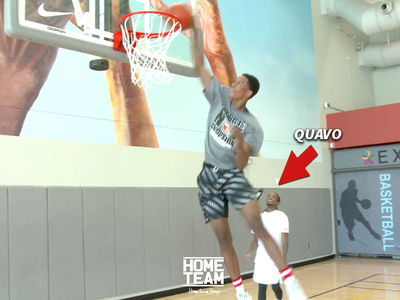 Shareef O'Neal Teams with Migos' Quavo for Crazy Dunk Sesh