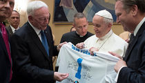 Jerry Jones Popes It Up at The Vatican